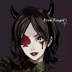 Eren Jaeger as a female devil?