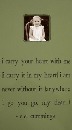 I Carry Your Heart picture frame <3