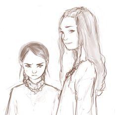 Sansa and Arya Stark by http://sketchsyndrome.tumblr.com/
