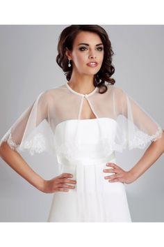 bolro poncho etole en tulle dentelle ivoire accessoires de la marie soire - Etole Beige Mariage