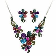Beautiful Multicolored Edwardian Fashion Costume Jewelry Jewellry Set Online Stores SKU-10801052