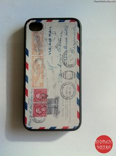 iPhone 4 Case Vintage Envelope iPhone Case Hard by ShawnMedia, $15.00