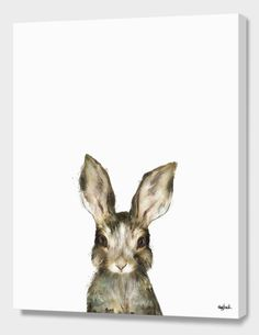 """""""Little Rabbit"""", Numbered Edition Canvas Print by Amy Hamilton - From $89.00 - Curioos"""