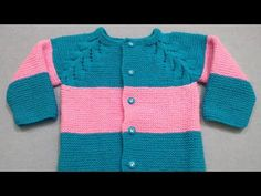 135eefff3 Knitting Baby Cardigan Start From Neck (Part - 1)