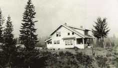 The New Home about 1921 on Garland Homestead, Rex, Oregon