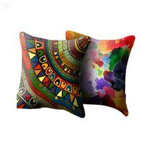 Polyester Cushion Cover Reversible - Ancient Art