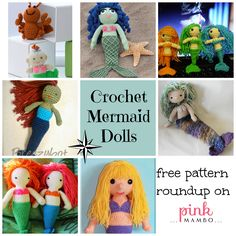 Crochet Mermaid Dolls Free Pattern Roundup