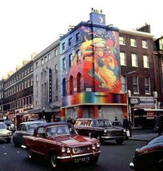 The Beatles opened their first Apple Corp. business enterprise, the Apple Boutique, at 94 Baker Street in London England on Dec. 7, 1967, with mural by Dutch design collective known as The Fool. It was later painted over because of complaints by surrounding businesses and the city council. It closed on July 30 1968.