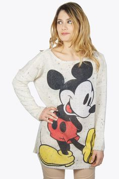 DISNEY CUTIES** Disney only for kids? Hell no!! Katy Perry and Hayden Panettiere love this cute trend.. Get your own disney item now and shop this great grey oversized mickey sweater! For the perfect casual look!  #2dayslook #clothing  www.2dayslook.com