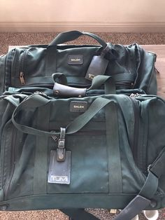 3d128d649b 2 Green Salem Tumi Bags With Tumi Tags Condition is Pre-owned.