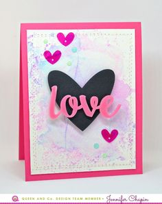 LOVE card by Jen Chapin for @queenandcompany using #heartthrobkit