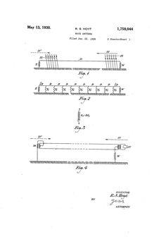 Patent US1758044 - Wave antenna - May 13, 1930
