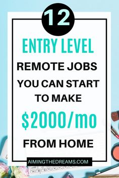 Entry-level remote jobs to start working from home. if you are looking for ways to make money from home, check this. These job ideas will help you find remote job according to your skill set. #entrylevelremotejobs #remotejobsathome #earnmoneyathome #legitonlinejobs Work From Home Opportunities, Work From Home Jobs, Earn Money From Home, Way To Make Money, Successful Home Business, Legit Online Jobs, Virtual Assistant Jobs, Teaching English Online, Freelance Writing Jobs