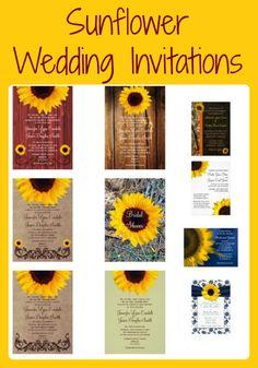 Sunflower Wedding Invitations ~ http://custom-personalized-wedding-invitations.com/sunflower-wedding-invitations/