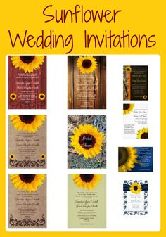 sunflower wedding invitations for a country wedding. see more, Wedding invitations