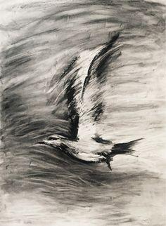 """""""Take Flight 2"""" charcoal sketch – Anelle Steyn"""