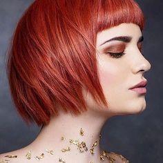 Short CopperBob Hair
