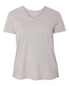 XtraFly Apparel Women's Plus Size Active Plain Basic V-neck Short Sleeve T-shirt - Black / 3XL