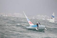 Pair take a dip as sailors battle rough seas | The Royal Gazette:Bermuda Olympic Games - Mobile