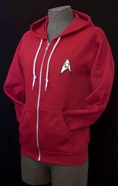 Star Trek Red Shirt/Scotty Engineer & Security Hoodie
