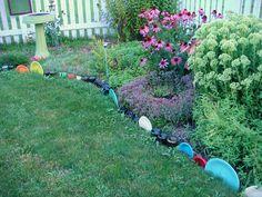 fiesta ware garden border