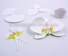 Paper Zen: Paper Orchid Birthday Card
