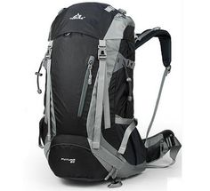 TOFINE Waterproof Camping Backpack Big Bags for Traveling with Rain Cover Black 40 Liter *** Additional details at the pin image, click it  : Womens hiking backpack
