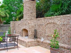 Outdoor Fireplace And Privacy Wall Modern Home Renovation MHR In Kingwood Texas 77339 Remodeling