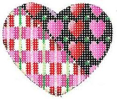 Hand Painted Canvas by Associated Talents Needlepoint Stitches, Needlepoint Kits, Needlework, Beaded Banners, Hand Painted Canvas, Canvases, Butterflies, Cross Stitch, Hearts