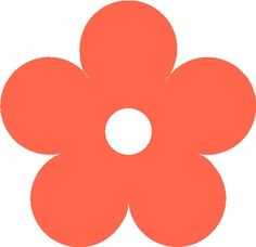 contemporary Flower Clip Art shape circle | SHAPES\Flowers