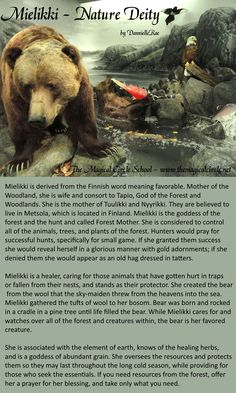 Mielikki - Nature Deity - Goddess - Finnish - Bear - by DannielleRae - The Magical Circle School www.themagicalcircle.net