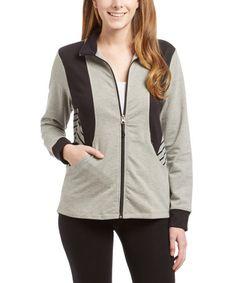 Love this Heather Gray Novelty Zip-Up Jacket on #zulily! #zulilyfinds