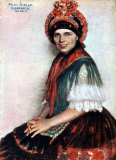 Dezső Szabó (1888 - 1971): Girl from Sárköz (1929 - folk dress from Sárköz, Hungary) Art Costume, Costumes, Hungarian Embroidery, Lany, My Heritage, How Beautiful, Traditional Outfits, Folk Art, Folk Clothing