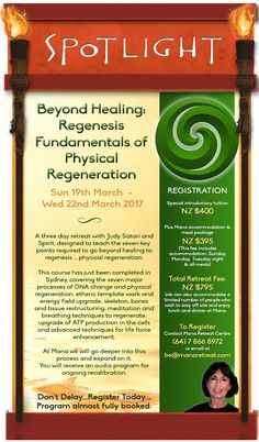 Join Judy at Mana for her amazing Beyond Healing Retreat.   DrumRoll ... and the beat goes out ... Issue 73 sent Wed 1st March. http://conta.cc/2mGa7d2 #DrumRoll #DrumRollPromotions #NewZealand #wellbeing #connection #community #advertising #promote  #divinelyGuided #Spiritual #BeyondHealing #Regeneration #ManaRetreat #JudySatori