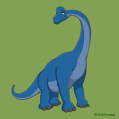 A gentle Mesozoic giant - my cartoon Brachiosaurus