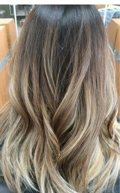 Ombré balayage for ashy hair
