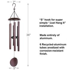 Memorial for father, mother Funeral wind chimes