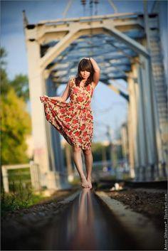 Girl on a railway