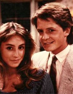 Tracy Pollan & Michael J. Fox. Married in 1988 after they met on Family Ties.