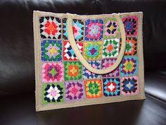 Crochet Bag inspiration  De AH tas. Geweldig idee!