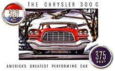 1957 Chrysler 300 C - Promotional Advertising Poster