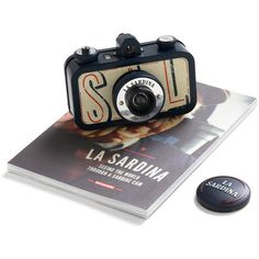 La Sardina Lomography Camera in Sea Pride (€50) ❤ liked on Polyvore featuring fillers, camera, backgrounds, accessories, items, embellish, women and detail