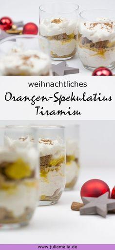 Ein weihnachtliches Tiramisu Rezept mit Orangen und Spekulatius. Das perfekte Dessert für einen festlichen Anlass oder einfach zwischendurch.