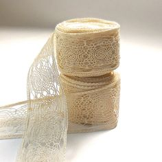 Antique Cream  Insertion Lace by OldRedHenVintage on Etsy