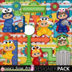 Monster Street #digital #scrapbook kit! http://www.mymemories.com/store/display_product_page?id=SESA-CP-1410-73775&r=syrenasscrapart