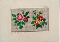 German cross stitch flower pattern
