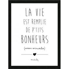 """Affiche """"La vie est remplie de petits bonheurs """""""