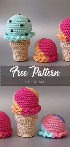 Ice Cream – Pattern Free – Easy Crochet Best Picture For crochet bufanda For Your Taste You are looking for something, and it is going to tell you exactly what you are looking for, and you didn't find Crochet Food, Cute Crochet, Crochet For Kids, Beautiful Crochet, Crochet Baby, Crochet Shirt, Crochet Sweaters, Crochet Patterns Amigurumi, Crochet Dolls