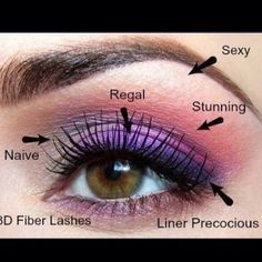 Here is a beautiful makeup look using all younique's eye makeup.  Eyeshawdow - Naive, Regal, Stunning & Sexy  Liner - Precious 3D Fiber Mascara