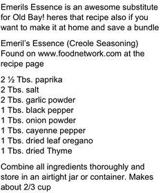Old bay seasoning substitute. seasonings, old bay substitute, emerils essence seasoning